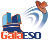 Gaia-ESO logo - outlined